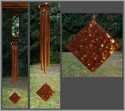 windsail, copper, windchime, wind chime, hammered copper