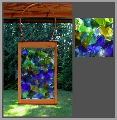 suncatcher, beach glass, stained glass