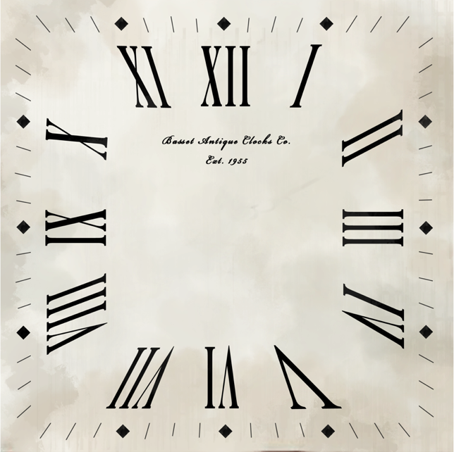 Square Clock Face Template Of the clock face which i