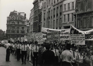 Photo of the first gay pride march through London, 1972. LSE/HCA/CHESTERMAN/43