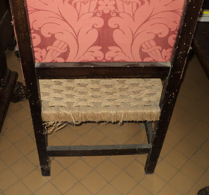Poltrone rustiche con tessuto antico antique armchairs ebay for Poltrone rustiche