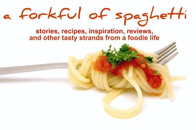 a forkful of spaghetti