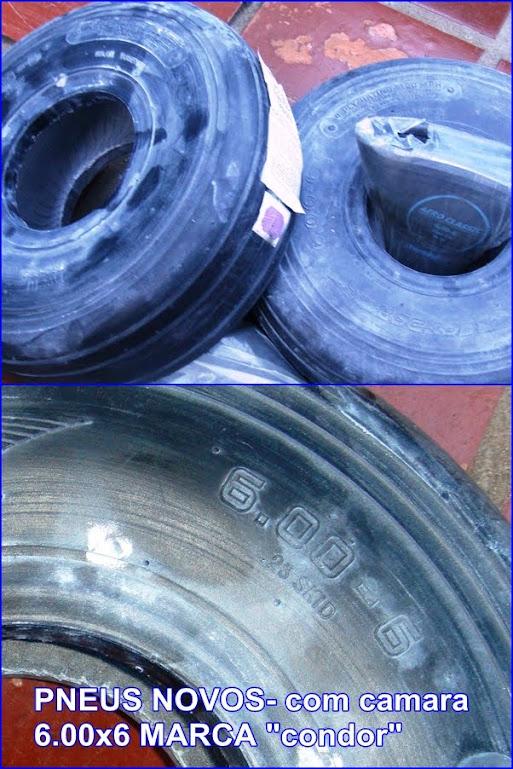 pneus novos 600x6 com câmara