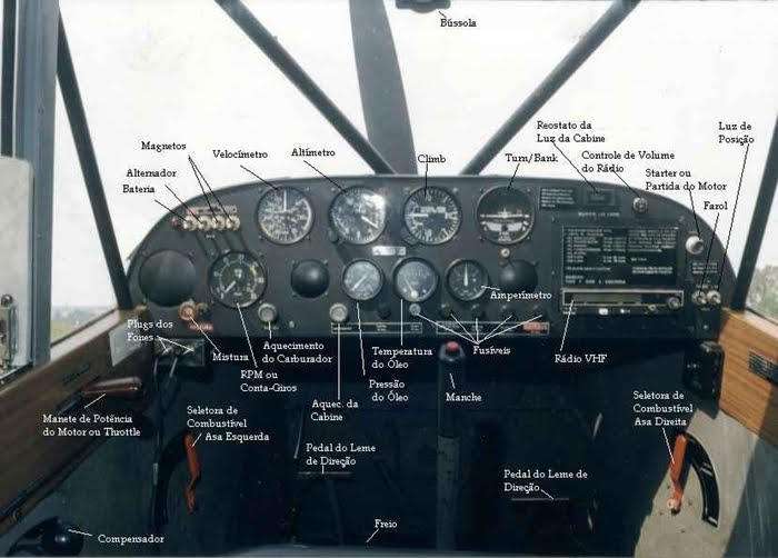 CABINE DA AERONAVE AERO BOERO 115