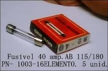 FUSIVEL 40 AMP. AB- 115-180- ELEMENTO-  5unid.