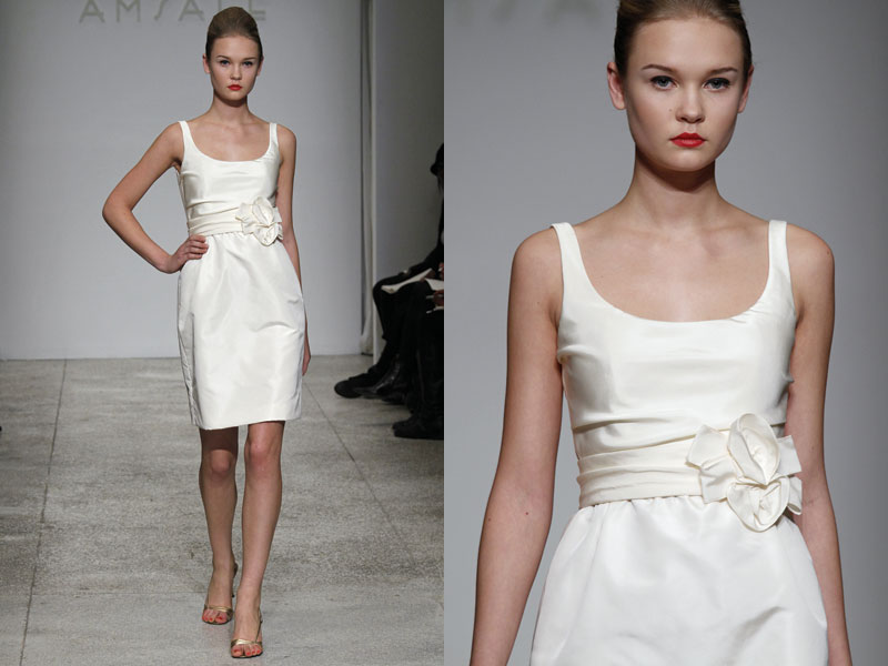 Celebrate Beautifully: Little White Dresses by Amsale