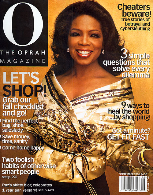 raz shitty blog on oprah