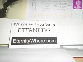 Brinde Gratis Adesivo 'Eternity Where?'