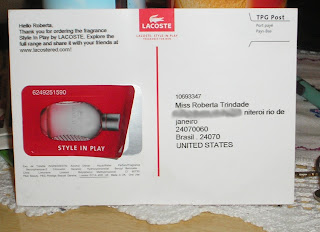 Amostra Gratis Perfume 'Style in Play', da Lacoste