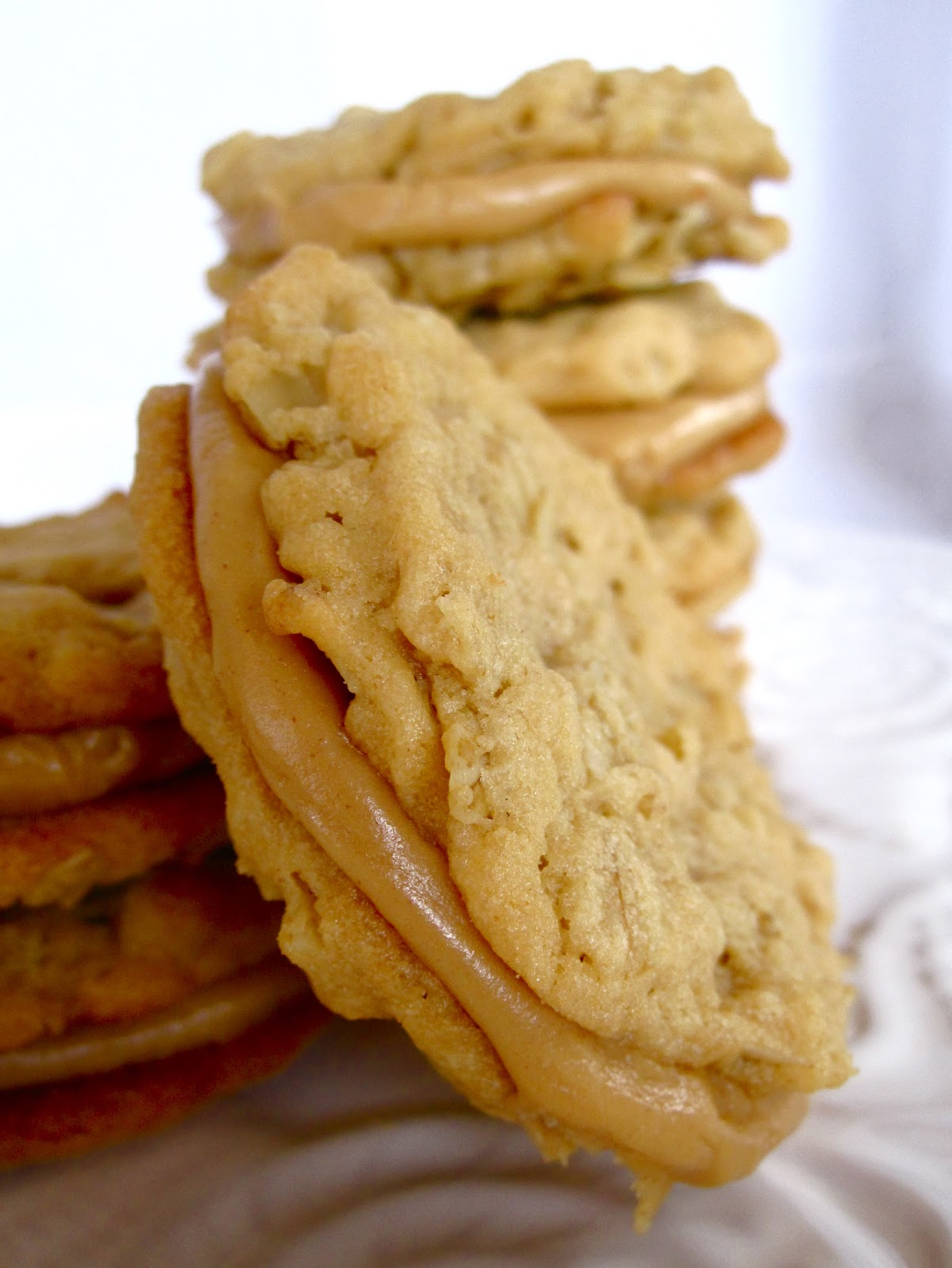Chocolate Therapy: Peanut Butter Oatmeal Sandwich Cookies