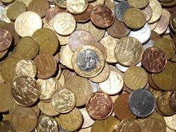 Faltam moedas pra o troco