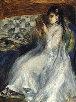 Pierre-Auguste Renoir Jeune femme en blanc lisant Young Woman in White Reading