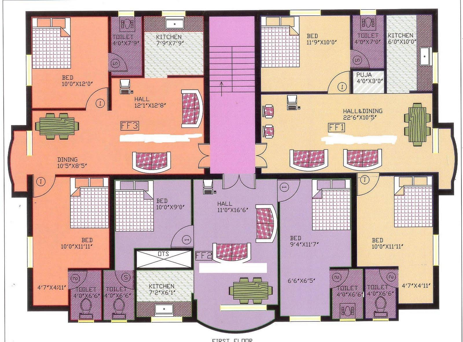 Apartment Floor Plans Chennai