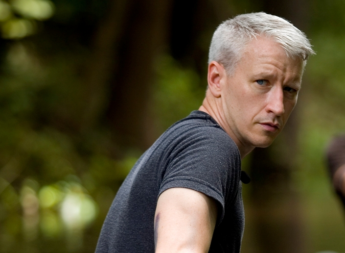 Anderson Cooper was punched in