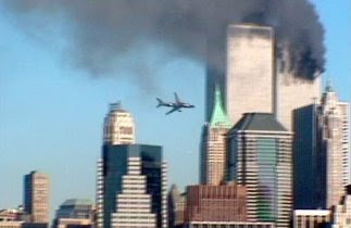 Flight 175 approaching the South Tower