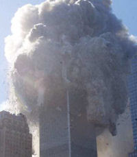 The North Tower collapsing