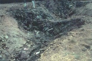 The alleged Flight 93 crash site