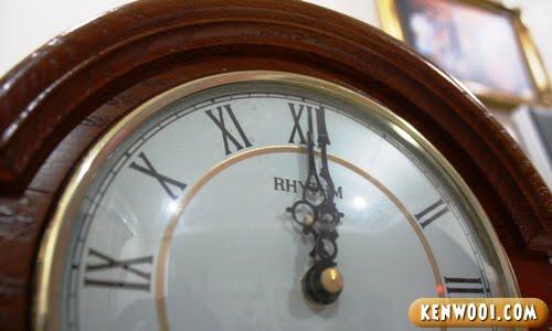 clock at twelve