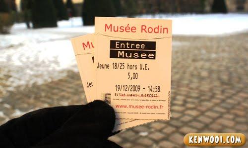 paris rodin museum ticket