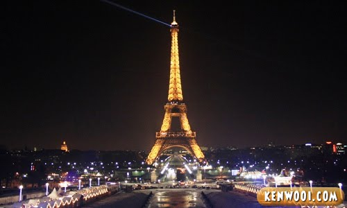 paris eiffel tower night view