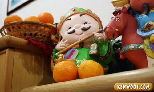 chinese god oranges