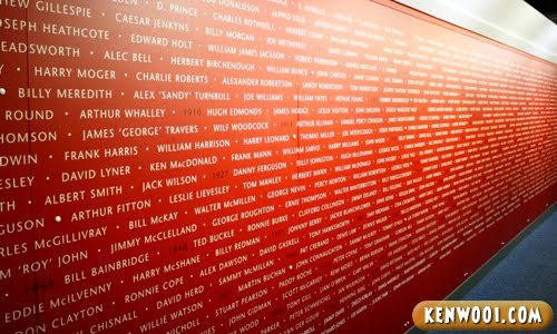 manchester united wall of players