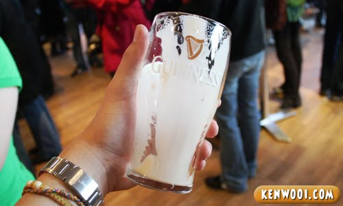 finished pint of guinness