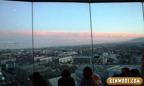 guinness storehouse gravity bar panoramic view