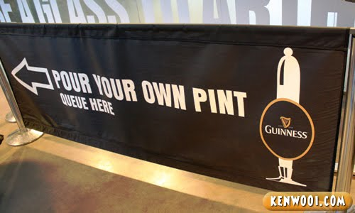 pour your own guinness pint