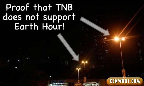 tnb hates earth hour