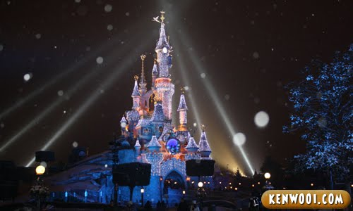 disneyland paris snow view