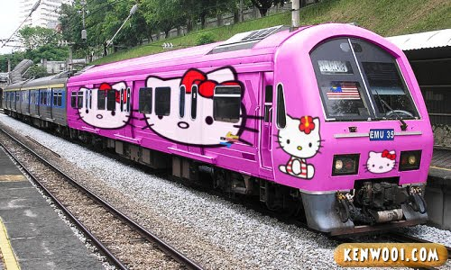 hello kitty pink train