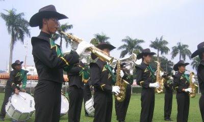 school sports day saxophone line