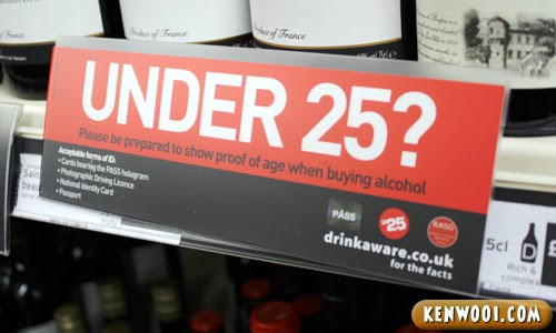 alcohol under 25