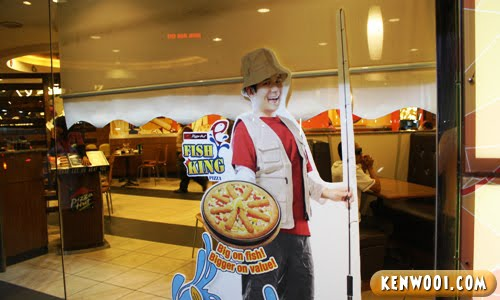 fish king pizza fisherman