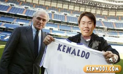 kenaldo real madrid shirt