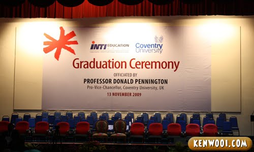 inti university college graduation stage