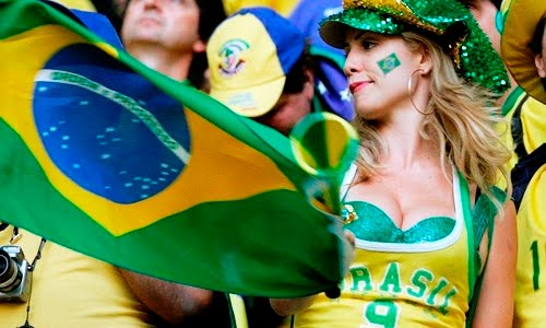 sexy brazillian football fan