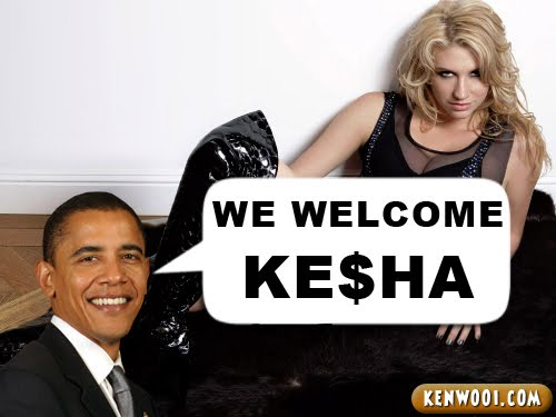 kesha barack obama