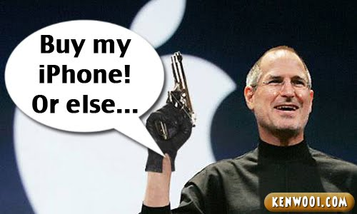 funny steve jobs iphone