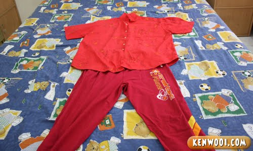 chinese new year red shirt