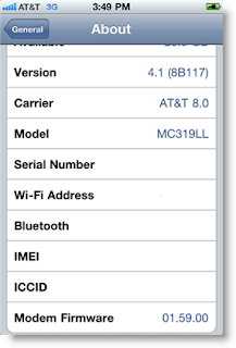 iOS 4.1 iPhone 4 Baseband 1.59.00