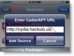 Cydia, Add Source Hackulous