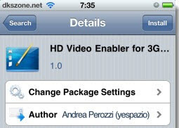 HD Video Enabler for 3GS