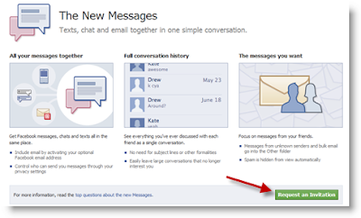 Request Invitation from Facebook New Messaging
