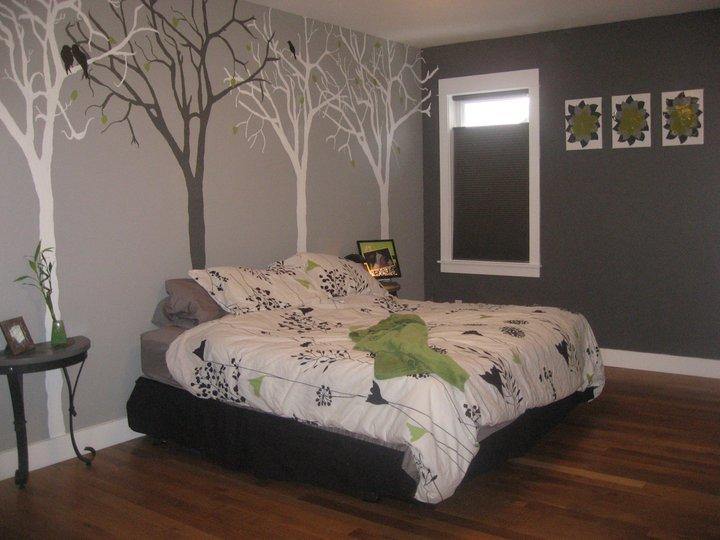 Bedroom paint samples