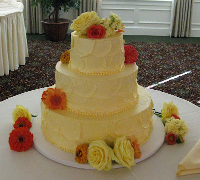Wedding Cakes Worcester Ma Orangey Yellow Buttercream Cake By Gretchen At Enchanted Wedding Cakes