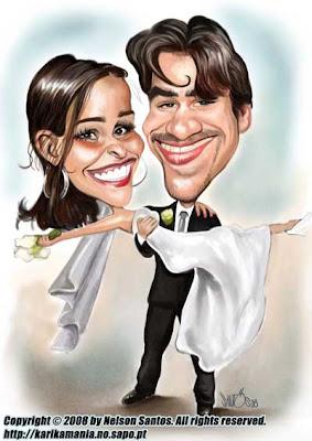 Caricatura para Convite Casamento