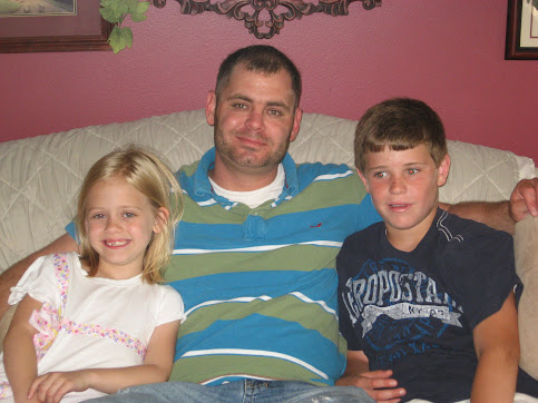 My son, grandson, & grand daughter