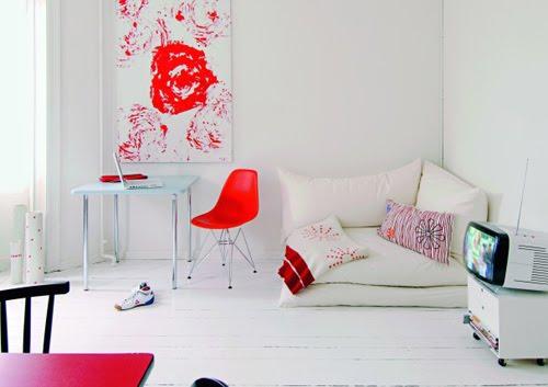 A p scribbles red spaces - Kuschelecke kinderzimmer kleinkinder ...